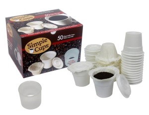 Simple Cup Disposable K-Cup Lids, Cups, Filters – 50 Ct. Set